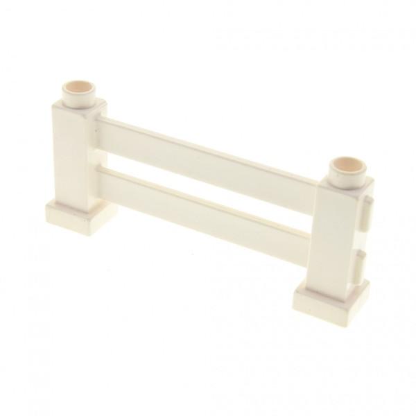 1 x Lego Duplo Zaun weiss Zäune 1x6x2 Gatter Geländer Absperrung Fence für Bauernhof Baustelle Zoo 31021