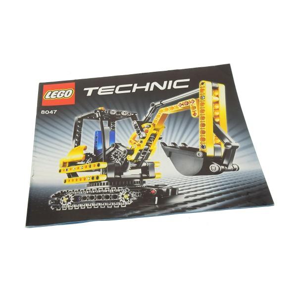 1 x Lego Technic Bauanleitung Heft 1 Model Construction Raupenbagger Ketten 8047