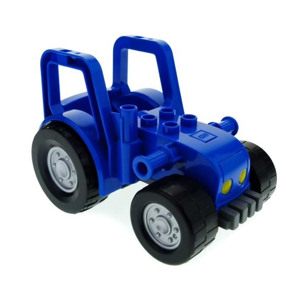 1x Lego Duplo Traktor blau grau groß Bauernhof Frontlader 4565900 87967c01pb01