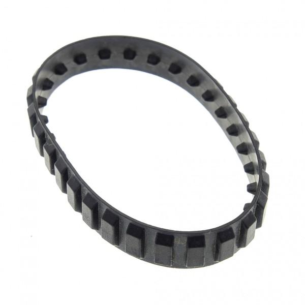 1 x Lego System Gummi Kette schwarz 28 Zähne Raupe Bagger Kettenantrieb Black Tread medium bb661