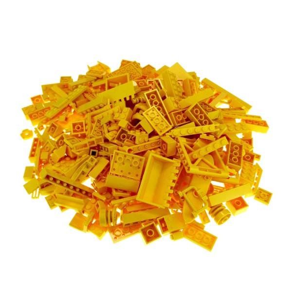 0,5 kg Lego System Basic Steine Sondersteine sortiert nach Farbe gelb Kiloware Form der Steine zufällig gemischt 500 g Sortierung