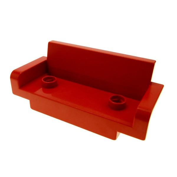 1 x Lego Duplo Möbel Sofa Couch rot 2x6 Wohnzimmer 2 Sitzer Puppenhaus 4888