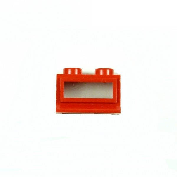 1 x Lego System Fenster Rahmen rot 1x2x1 Zug Eisenbahn Haus klein Waggon Lok 70er Jahre 27c01