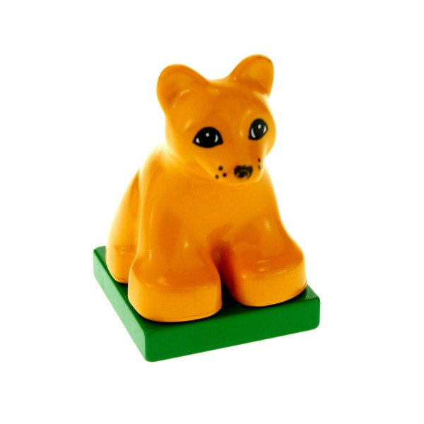 1 x Lego Duplo Baby Löwe medium hell orange Zoo Zirkus Safari groß Katze 2334c03pb01