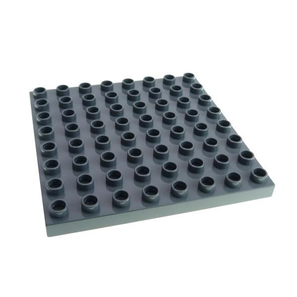 1 x Lego Duplo Bau Basic Platte neu-dunkel grau 8x8 Noppen Burg Flughafen Feuerwehr Zoo 5595 6157 4785 5601 4246959 51262
