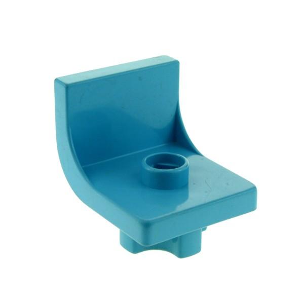 1 x Lego Duplo Stuhl Maersk hell blau 1 Noppe Sitz Stühle Küche Wohnzimmer Schlafzimmer Puppenhaus Möbel 4839