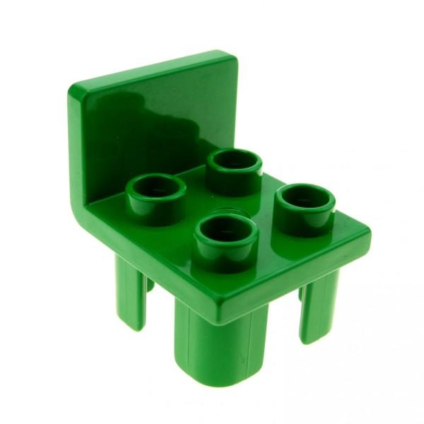 1 x Lego Duplo Möbel Stuhl grün 4 Noppen Sitz Stühle Küche Wohnzimmer Schlafzimmer Puppenhaus Set 2811 2818 2817 4112051 6478