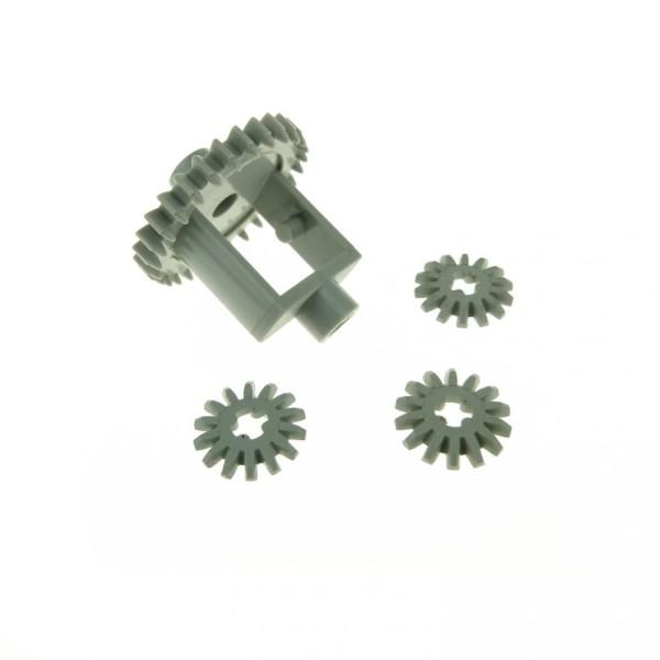 1 x Lego Technic Getriebe Differential alt-hell grau Old Style 28 Zähne mit 3 x Zahnrad 14 Zähne Zahnräder 4143 73071