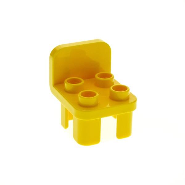 1 x Lego Duplo Stuhl gelb 4 Noppen Stühle Sitz Lehne rund Küche Wohnzimmer Schlafzimmer Puppenhaus Möbel 6040234 12651