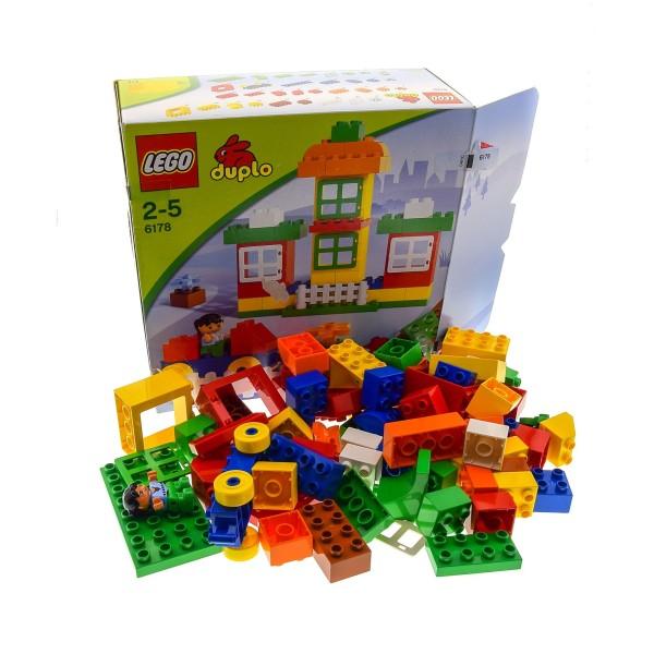1 x Lego Duplo Set Modell 6178 Meine Stadt Bau Steine Figur Fenster OVP incomplete unvollständig