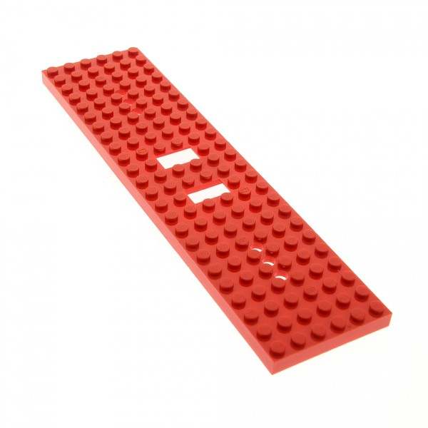 1 x Lego Zug Bau Platte rot Train Eisenbahn 6 x 24 Noppen 6x24 (3 Löcher an jedem Ende) Waggon 4565 2126 6584a