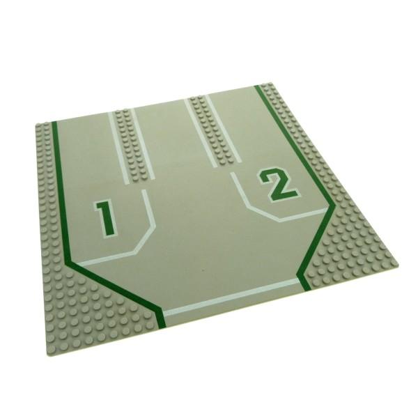 1 x Lego System Bau Platte 32x32 alt-hell grau 32 x 32 Noppen Straße Feuerwehr Auffahrt 1 und 2 6382 6100px2