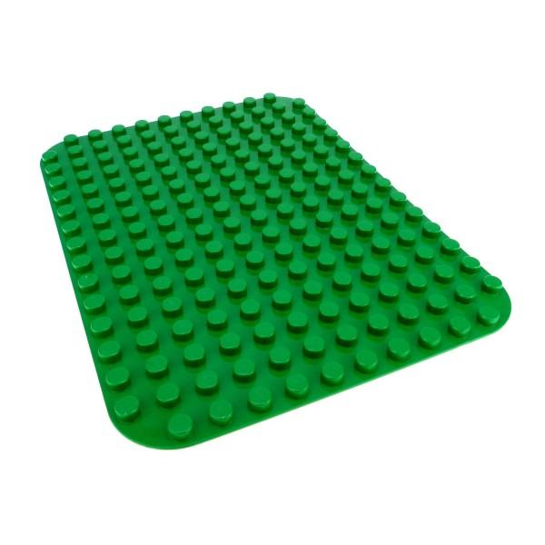 1 x Lego Duplo Bau Basic Platte grün 12x16 Noppen abgerundete Ecken 685128 6851