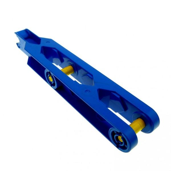 1 x Lego Duplo Toolo Stein blau 2x11 Arm Baustein Verbindung Verbinder Halterung 6273c01