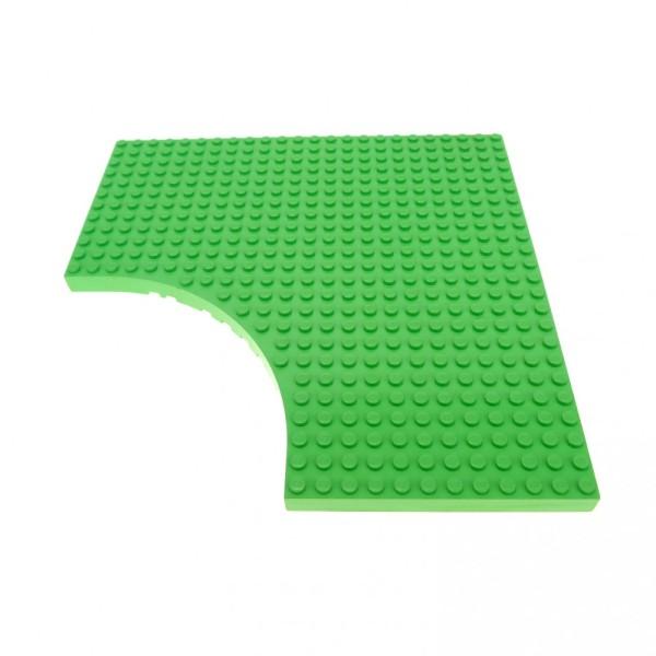 1 x Lego System Bau Platte medium hell grün 24 x 24 24x24 Noppen Belville mit Rundung 12 x 12 12x12 Viertelkreis 6161