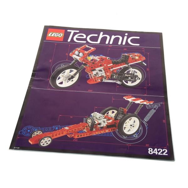 1 x Lego Technic Bauanleitung A4 Model Riding Cycle Circuit Shock Racer Bike Motorrad 8422