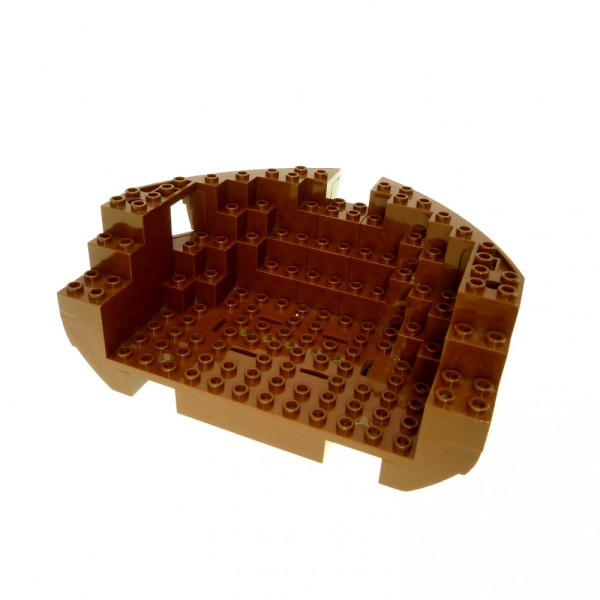 1 x Lego System Boot Rumpf Heck braun 12x16x5 1/3 Piraten Schiff Set 6285 6274 10040 2557c03