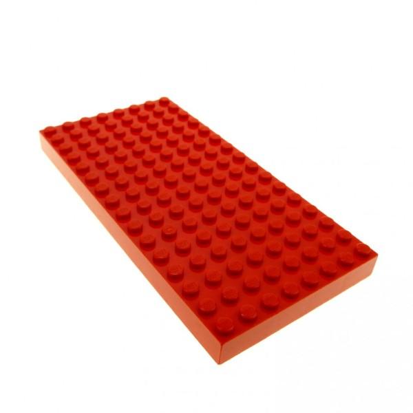 1 x Lego System Bau Basic Platte rot 8 x 16 dick 8x16 16 x 8 Noppen für Set 5975 44041 4181117 4204