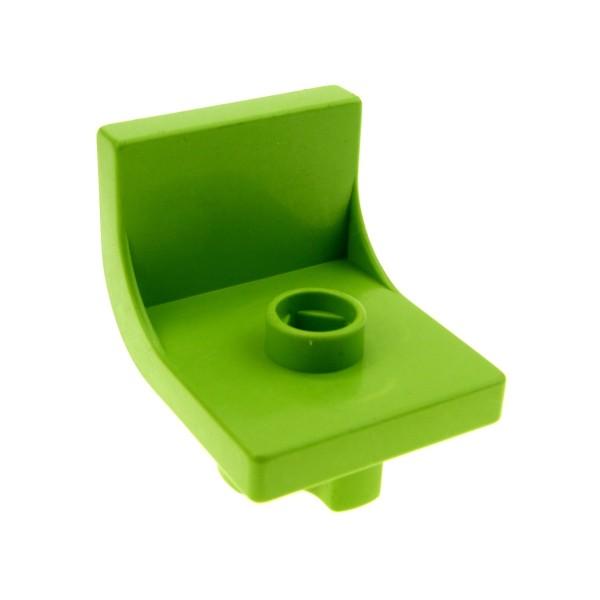1 x Lego Duplo Möbel Stuhl lime grün 1 Noppe Küche Wohnzimmer Schlafzimmer Puppenhaus Sitz Chair 4839