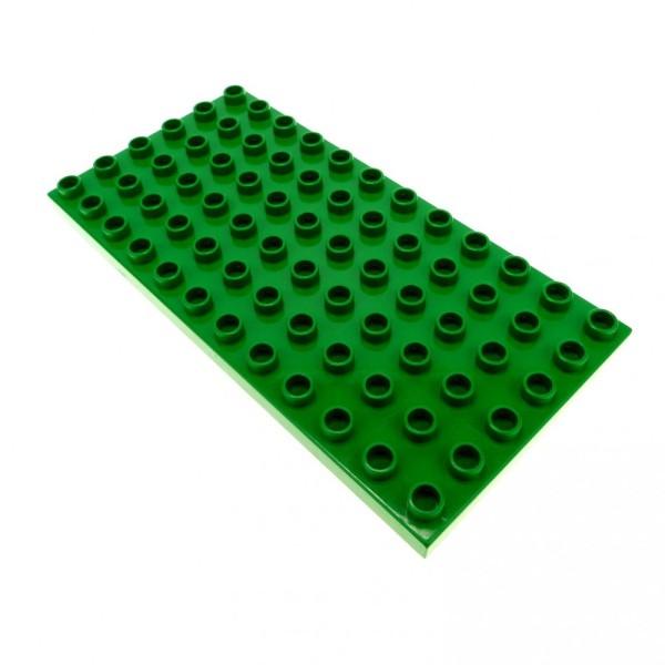 1 x Lego Duplo Bau Basic Platte B-Ware abgenutzt Bauplatte grün 12 x 6 Noppen 6x12 Grundplatte 419628 4196 18921