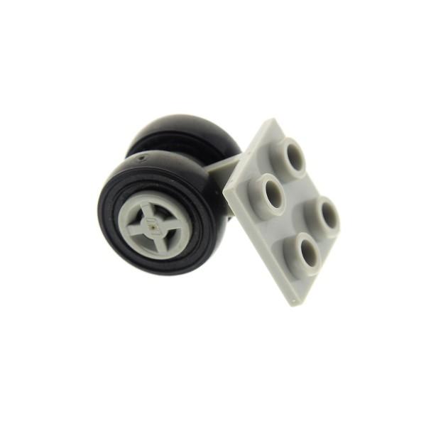 1 x Lego System Rad Achse alt-hell grau Platte 2x2 mit 2 Räder alt-hell grau für Flugzeug 6597 1687 6544 6482 4624 3139 4870c01