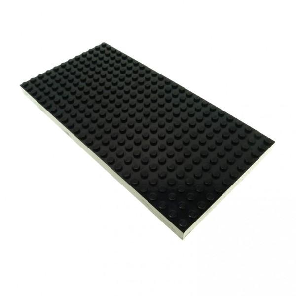 1 x Lego System Bau Platte schwarz 24 x 12 Noppen dick Basic 12x24 8781 4730 10144 4181042 30072