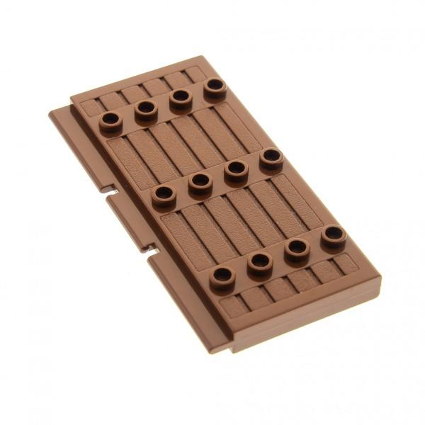 1 x Lego System Tür braun 1x5x7 dick wandig Palisade Tor Flügel Blatt Haustür Haus Castle Burg Wild West door 7036 4186587 30223