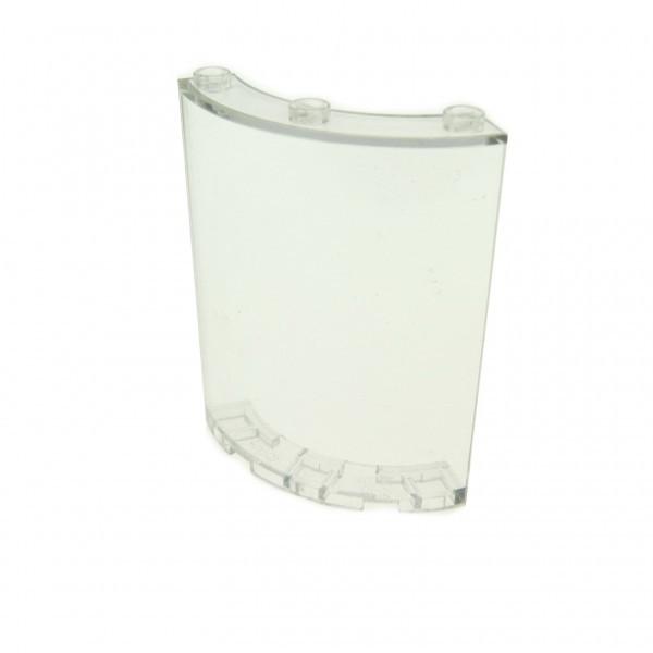 1 x Lego System Fenster transparent weiß 4x4x6 viertel Zylinder Panele Mauer Wand 30562 46361