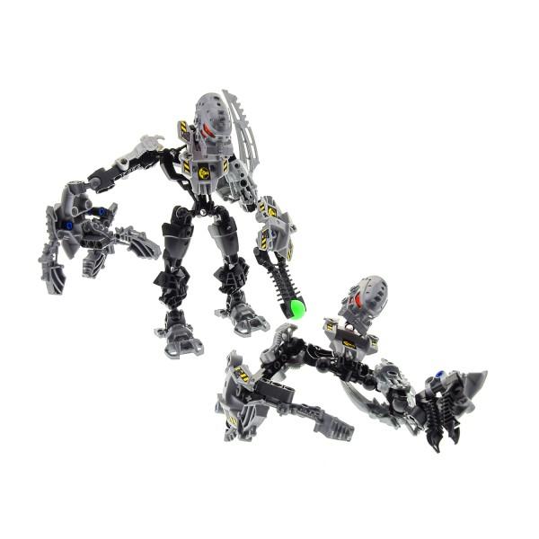 1 x Lego Bionicle Figuren Set für Modell Technic Hero Factory Villains 7157 Thunder grau schwarz incomplete unvollständig