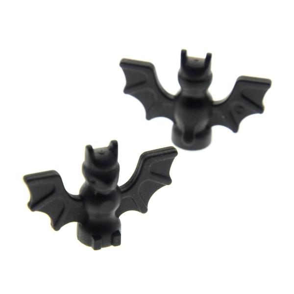 2 x Lego System Tier Fledermaus schwarz Bat Ritter Castle Batman Harry Potter 7783 4709 7074 6029 6007 4106513 90394 30103