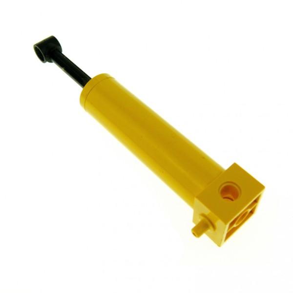 1 x Lego Technic Pneumatic Zylinder gelb schwarz 64 mm Pumpe groß lang  Kolben geprüft 4689c01