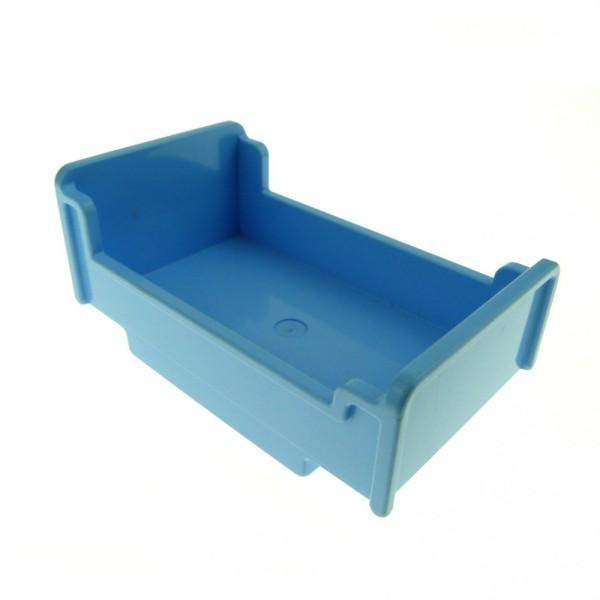 1 x Lego Duplo Möbel Bett B-Ware abgenutzt hell blau 3x5x1 2/3 Schlafzimmer Puppenhaus Winnie The Pooh 76338 4895