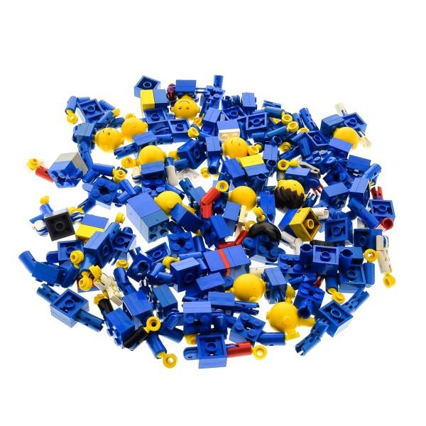 11 x Lego System Homemaker Großkopf Kopf B-Ware Set beschädigt Figur Mann Frau Gesicht gelb Steine Torso blau 685px*