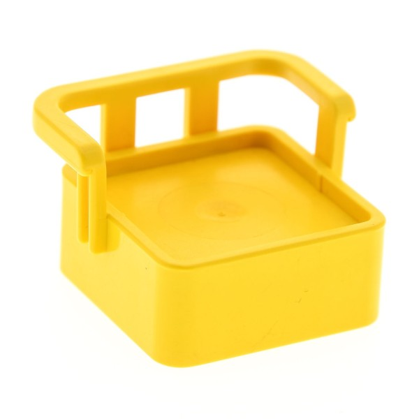 1 x Lego Duplo Möbel Stuhl gelb mit Lehne Sitz Sessel Küche Wohnzimmer Puppenhaus für Set 2648 2650 2645 dupseatold
