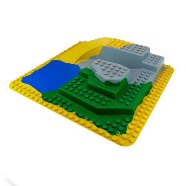 1 X Lego Duplo 3d Platte 24x24 Noppen Gelb Gr 252 N Grau Blau