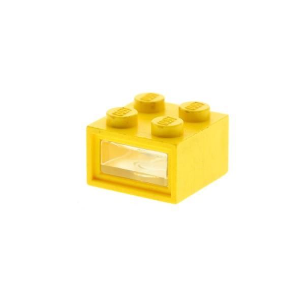 1 x Lego System Electric Licht Stein DEFEKT gelb 4.5V 2 x 2 2x2 mit 2 Kabel Löcher Scheibe glatt Scheinwerfer Lampe geprüft 08010cc01