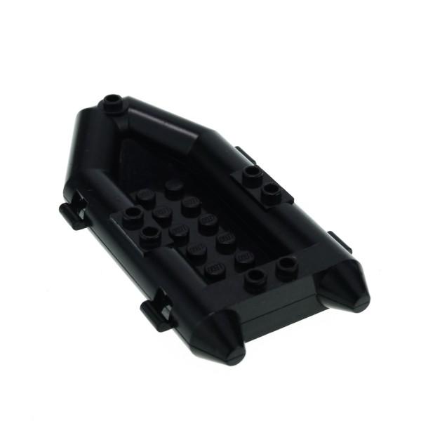 1 x Lego System Boot schwarz Schlauchboot Ruderboot City Jack Stone Adventure 4669 4606 4154872 30086