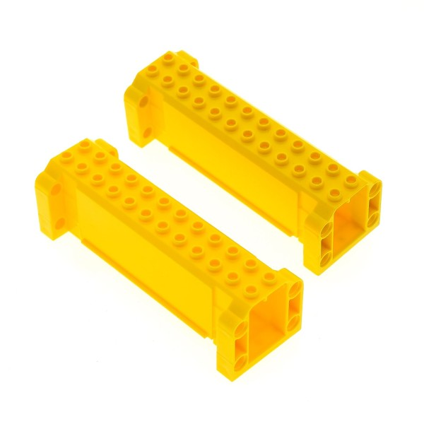 2 x Lego System Kran Ausleger gelb 4 x 12 x 3 Stütze Säule Träger Crane 7249 7633 52041