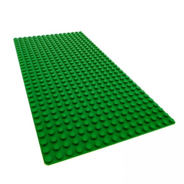 1 x Lego System Platte B-Ware abgenutzt Bau Basic Grund Platte grün flach 32 x 16 Noppen 16x32 Wiese Rasen 274828 2748 3857