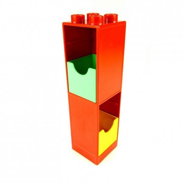 1 x Lego Duplo Möbel Regal Schrank Schub grün rot gelb Schlafzimmer Badezimmer Bad Möbel Lego Duplo 6462
