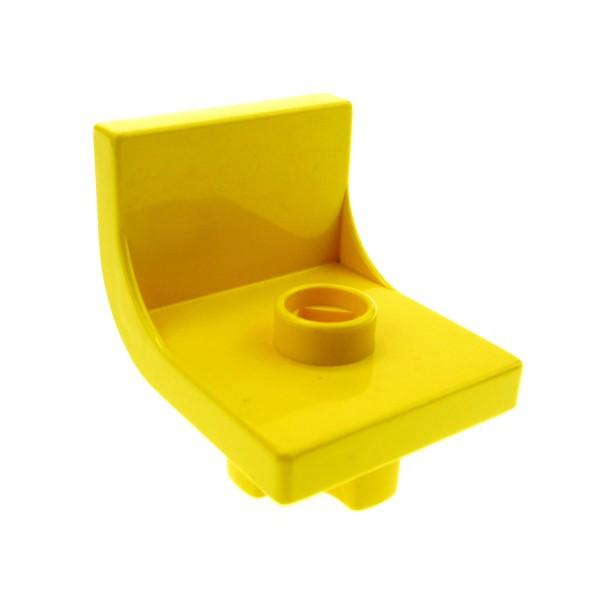 1 x Lego Duplo Stuhl gelb 1 Noppe Sitz Stühle Küche Wohnzimmer Schlafzimmer Puppenhaus Möbel 4839
