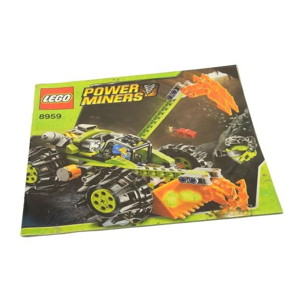1 x Lego System Bauanleitung Power Miners Kristallschürfer 8959