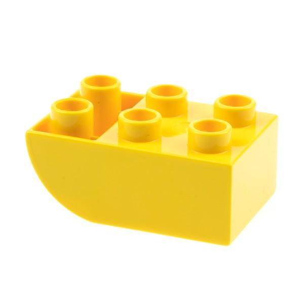 1x Lego Duplo Dach Bau Stein 2x3 gelb negativ schräg abgerundet 10895 98252