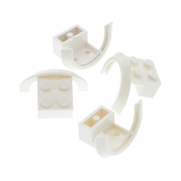 4 x Lego System Radkasten weiss 4 x 2 1/2 x 1 2/3 Kotflügel Radkästen Schutzblech Rad Abdeckung 50745