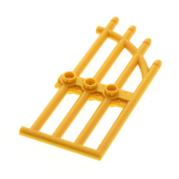1 x Lego System Tür perl gold 1x4x9 Gitter Schloß Tor Flügel Haustür Haus Castle Burg door 41050 41067 7985 8061 8078 4566967 42448