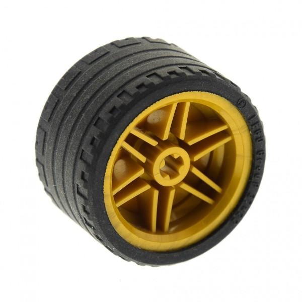 1 x Lego Technic Rad Räder Reifen schwarz 37x22 ZR Technik Felge Perl Gold 30.4mm D. x 20mm Set 76012 70727 (56145 / 55978) 56145c03
