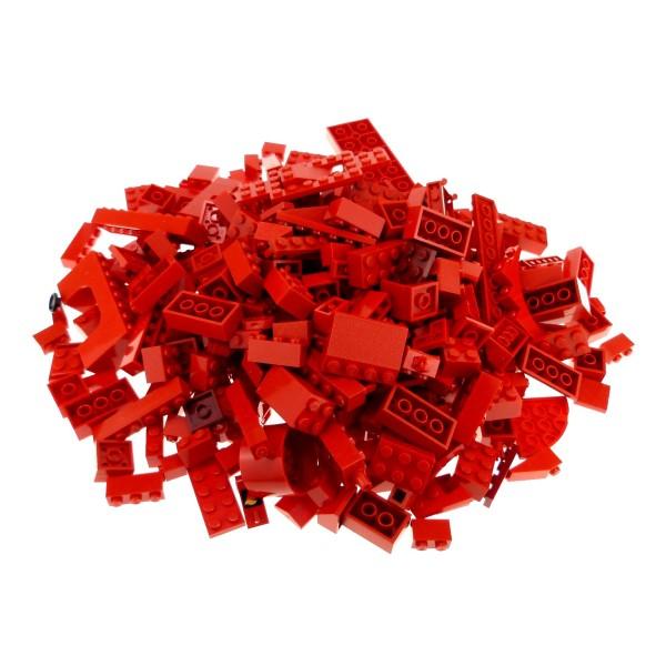 0,5 kg Lego System Basic Steine Sondersteine sortiert nach Farbe rot Form der Steine Kiloware zufällig gemischt 500 g Sortierung