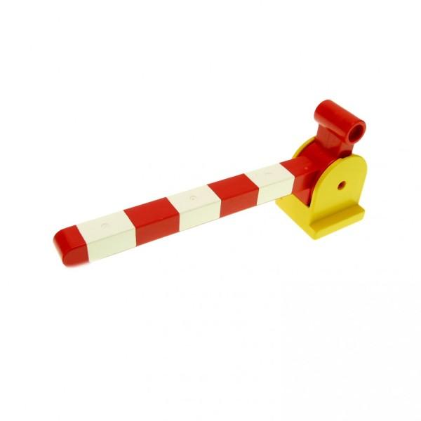 1 x Lego Duplo Schranke gelb weiß rot Hebel lang für Eisenbahn Schiene Zug Bahnübergang Bahnschranke 6405c01