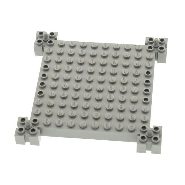 1 x Lego System Bau Platte 12x12 alt-hell grau Noppen mit Pin Burg Turm Set 4620 4655 30645
