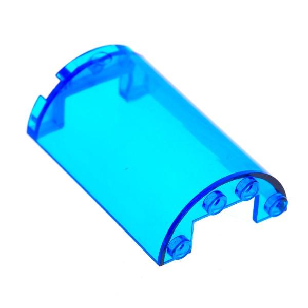 1 x Lego System Zylinder transparent dunkel blau 2x4x5 mit Ausschnitt 1x2 Kanzel Cockpit Kuppel Fenster Set 5974 85941